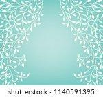 ivy vine vector in white border ...   Shutterstock .eps vector #1140591395