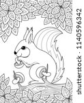 vector doodle coloring book... | Shutterstock .eps vector #1140596342