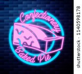 vintage confectionery emblem | Shutterstock .eps vector #1140598178