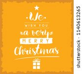 merry christmas. typography.... | Shutterstock .eps vector #1140613265