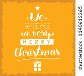 merry christmas. typography.... | Shutterstock .eps vector #1140613265