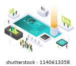 isometric vector illustration.... | Shutterstock .eps vector #1140613358