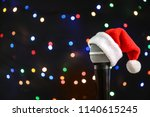 Microphone With Santa Hat...