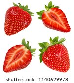 fresh strawberry isolated on... | Shutterstock . vector #1140629978