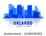 orlando   florida   skyline... | Shutterstock .eps vector #1140630302
