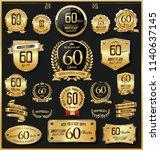anniversary retro vintage... | Shutterstock .eps vector #1140637145
