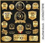 anniversary retro vintage... | Shutterstock .eps vector #1140637898