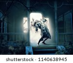 souls of victims in abandoned... | Shutterstock . vector #1140638945