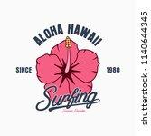Aloha Hawaii Typography...