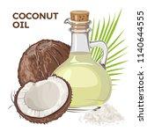 vector coconut  with coconut... | Shutterstock .eps vector #1140644555