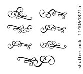 decorative monograms and... | Shutterstock .eps vector #1140648215