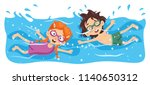 vector illustration of kid... | Shutterstock .eps vector #1140650312