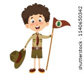 vector illustration of a scout... | Shutterstock .eps vector #1140650342