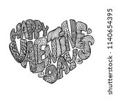 vector coloring page for adult. ... | Shutterstock .eps vector #1140654395