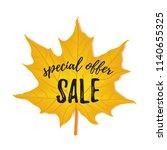 autumn special offer sale flyer ... | Shutterstock .eps vector #1140655325