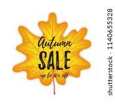autumn sale flyer colorful... | Shutterstock .eps vector #1140655328