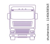 lorry car front view. heavy...   Shutterstock .eps vector #1140658565