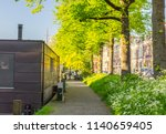 green summer streets in utrecht ... | Shutterstock . vector #1140659405