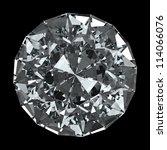 round diamond   isolated on... | Shutterstock . vector #114066076