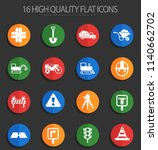 road repairs vector icons for... | Shutterstock .eps vector #1140662702