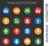 robots web icons for user... | Shutterstock .eps vector #1140662708