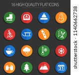 winter vector icons for web and ... | Shutterstock .eps vector #1140662738
