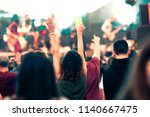 crowd at concert   music... | Shutterstock . vector #1140667475