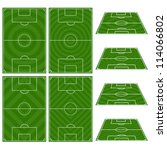 set of football fields with... | Shutterstock .eps vector #114066802