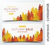 autumn sale banner layout...   Shutterstock .eps vector #1140668438