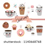 collection of hand drawn.... | Shutterstock .eps vector #1140668768