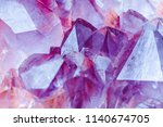 crystal stone macro mineral... | Shutterstock . vector #1140674705