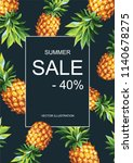 tropical hawaiian sale poster... | Shutterstock .eps vector #1140678275
