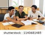 financial expert explaining...   Shutterstock . vector #1140681485