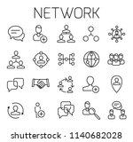 network related vector icon set.... | Shutterstock .eps vector #1140682028