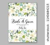floral white rose greenery... | Shutterstock .eps vector #1140684215