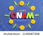 happy onam background with... | Shutterstock .eps vector #1140687308