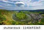 horseshoe bend of river mosel... | Shutterstock . vector #1140693365