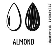 almond icon. simple... | Shutterstock .eps vector #1140696782