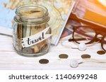 wanderlust. adventure concept.... | Shutterstock . vector #1140699248