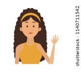young woman cartoon | Shutterstock .eps vector #1140711542