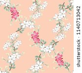 seamless pattern white and pink ... | Shutterstock .eps vector #1140713042