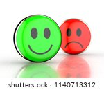 happy face and sad face. green... | Shutterstock . vector #1140713312