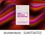 distortion of stripes. abstract ... | Shutterstock .eps vector #1140726722