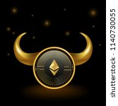 ethereum cryptocurrency coin... | Shutterstock .eps vector #1140730055