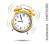 realistic golden alarm clock... | Shutterstock .eps vector #1140731582