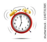 realistic red alarm clock... | Shutterstock .eps vector #1140731585