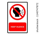 keep silence symbol sign ... | Shutterstock .eps vector #1140747872