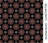 daisy flower geometric circle... | Shutterstock .eps vector #1140749735
