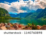 fantastic view on hallstatt... | Shutterstock . vector #1140760898