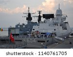 the nato squadron arrived in... | Shutterstock . vector #1140761705